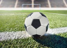 Fútbol del balón de fútbol imágenes de archivo libres de regalías