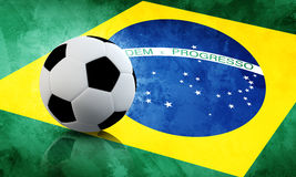 Fútbol del Brasil ilustración del vector