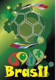 Fútbol 2014 del Brasil Foto de archivo libre de regalías