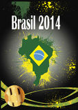 Fútbol 2014 del Brasil Imagenes de archivo