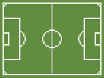 Fútbol del campo de deporte del fútbol del estilo del arte del pixel Foto de archivo libre de regalías