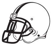 Fútbol del casco Imagen de archivo