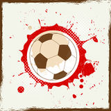 Fútbol del chapoteo del Grunge Imágenes de archivo libres de regalías