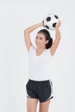 Fútbol del control de la mujer Fotos de archivo