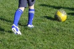 Fútbol del entrenamiento Fotografía de archivo libre de regalías
