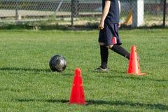 Fútbol del entrenamiento Fotos de archivo libres de regalías