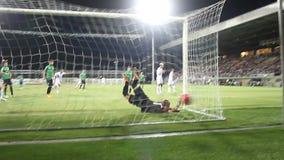 Fútbol del fútbol almacen de metraje de vídeo
