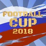 Fútbol 2018 del fondo del vector de la taza del campeonato del mundo del fútbol stock de ilustración