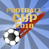 Fútbol 2018 del fondo del vector de la taza del campeonato del mundo del fútbol libre illustration