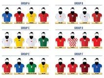 Fútbol 2016 del inconformista Iconos ilustración del vector