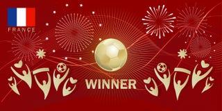 Fútbol 2018 del mundial de Rusia del fútbol de FRANCIA de la meta del ganador libre illustration