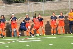 Fútbol del NCAA DIV III Women's de la universidad Imagenes de archivo
