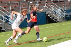 Fútbol del NCAA DIV III Women's de la universidad fotos de archivo libres de regalías