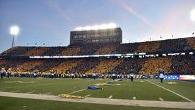 2015 fútbol del NCAA - estado de Oklahoma en Virginia Occidental Imagen de archivo libre de regalías