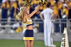 2015 fútbol del NCAA - GA @ WVU meridional Imágenes de archivo libres de regalías
