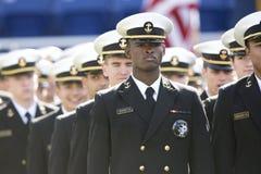 2015 fútbol del NCAA - la Florida del sur en la marina de guerra Imagen de archivo
