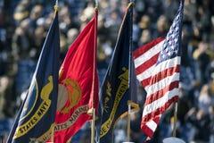 2015 fútbol del NCAA - la Florida del sur en la marina de guerra Foto de archivo libre de regalías