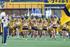 2015 fútbol del NCAA - Maryland @ WVU Imagen de archivo libre de regalías