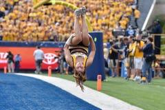2015 fútbol del NCAA - Maryland @ WVU Imagenes de archivo
