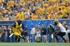 2015 fútbol del NCAA - Maryland @ WVU Imágenes de archivo libres de regalías