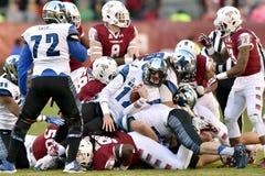 2015 fútbol del NCAA - Memphis en el templo Imágenes de archivo libres de regalías