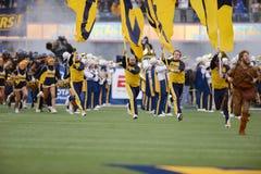 2014 fútbol del NCAA - TCU-WVU Imágenes de archivo libres de regalías