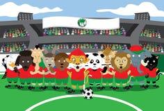 Fútbol del parque zoológico Fotografía de archivo libre de regalías