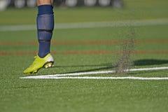 Fútbol después del retroceso Foto de archivo