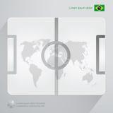 Fútbol el Brasil Infographic Foto de archivo