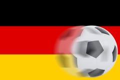 Fútbol en bandera alemana Fotos de archivo libres de regalías