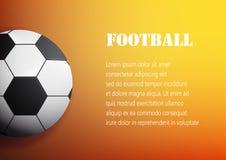 Fútbol en el ejemplo anaranjado del vector del fondo libre illustration