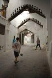 Fútbol en el Medina Fotografía de archivo