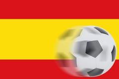 Fútbol en la bandera de España Foto de archivo