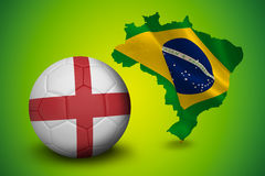 Fútbol en los colores de Inglaterra Fotografía de archivo