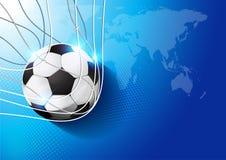 Fútbol en meta ilustración del vector