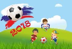 Fútbol en Rusia Imágenes de archivo libres de regalías