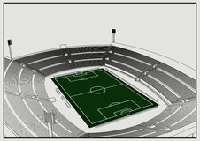 Fútbol - estadio de fútbol Libre Illustration