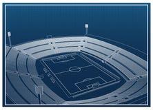 Fútbol - estadio de fútbol Ilustración del Vector