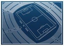 Fútbol - estadio de fútbol Stock de ilustración