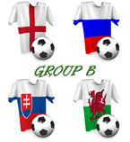 Fútbol europeo 2016 del grupo B imágenes de archivo libres de regalías