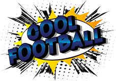 Fútbol fresco - palabras del estilo del cómic libre illustration