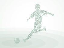 Fútbol. Golpea la bola con el pie. Imagen de archivo libre de regalías