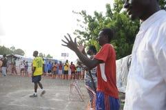 Fútbol haitiano. Fotos de archivo