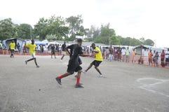 Fútbol haitiano. Foto de archivo libre de regalías