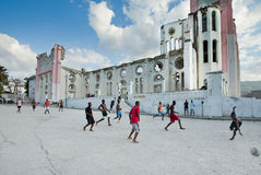 Fútbol haitiano foto de archivo