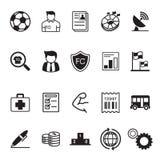 Fútbol, icono del fútbol Foto de archivo libre de regalías