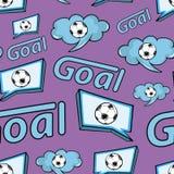 Fútbol inconsútil de la violeta de la textura stock de ilustración