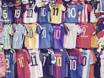 Fútbol Italia de la camiseta imagenes de archivo