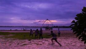 Fútbol la India del fútbol de la playa Fotografía de archivo libre de regalías
