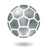 Fútbol metálico Foto de archivo libre de regalías